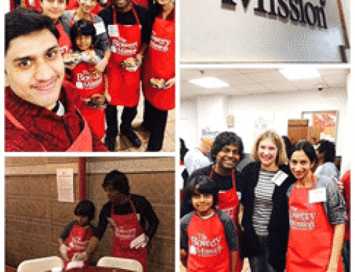 Dr. Arvind Philomin of Esthetix Dental Spa and His Family Served Thanksgiving Dinners at the Bowery Mission