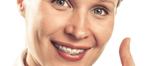 Adult with braces