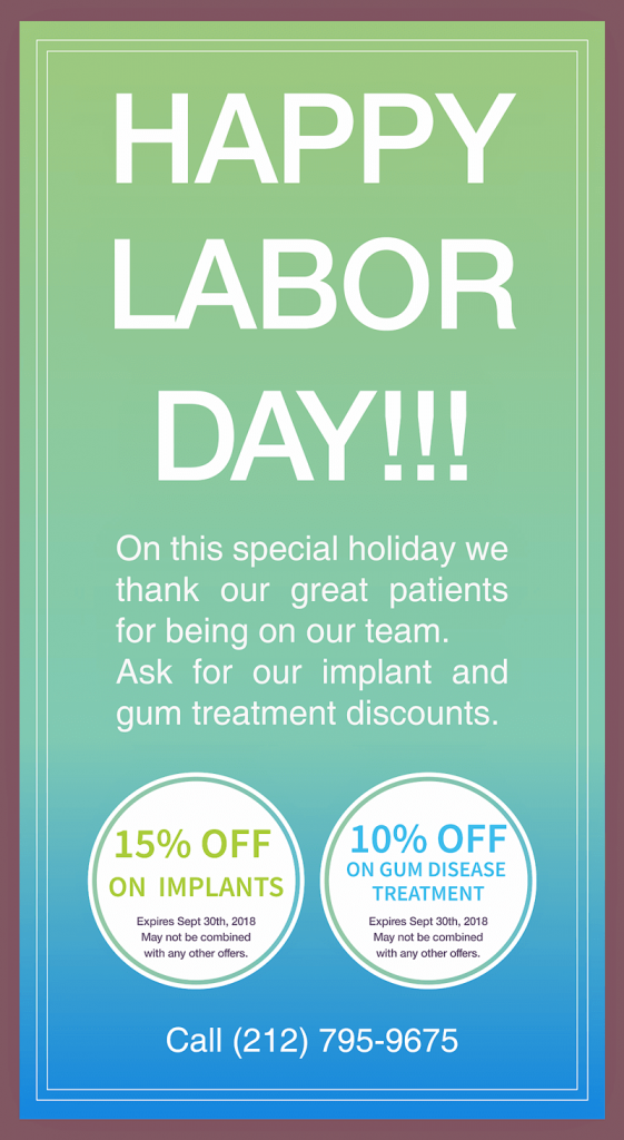 Labor Day Coupon 2018