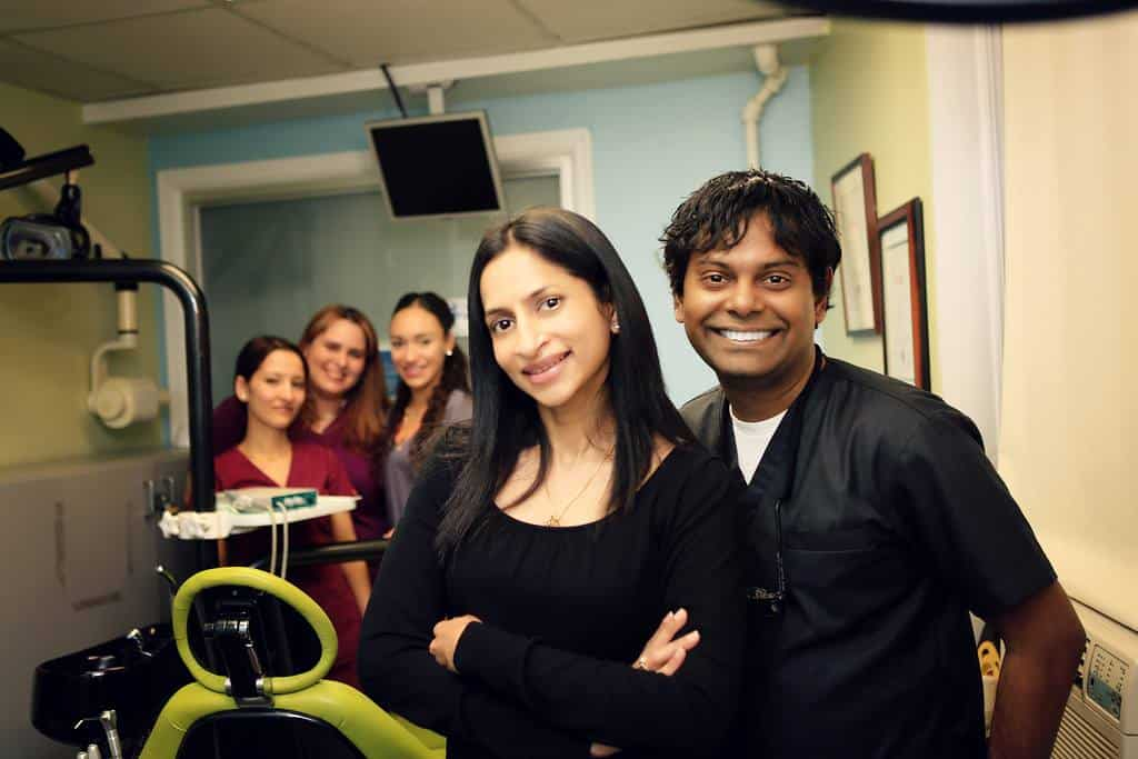 Dr. Arvind Pilomin and Dr. Divya Adusumilli at Esthetix Dental SPa