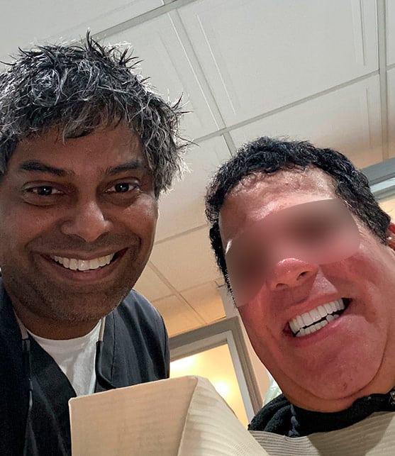 Juan after getting his new Dental Implants at Esthetix Dental Spa in Washington Heights, NY