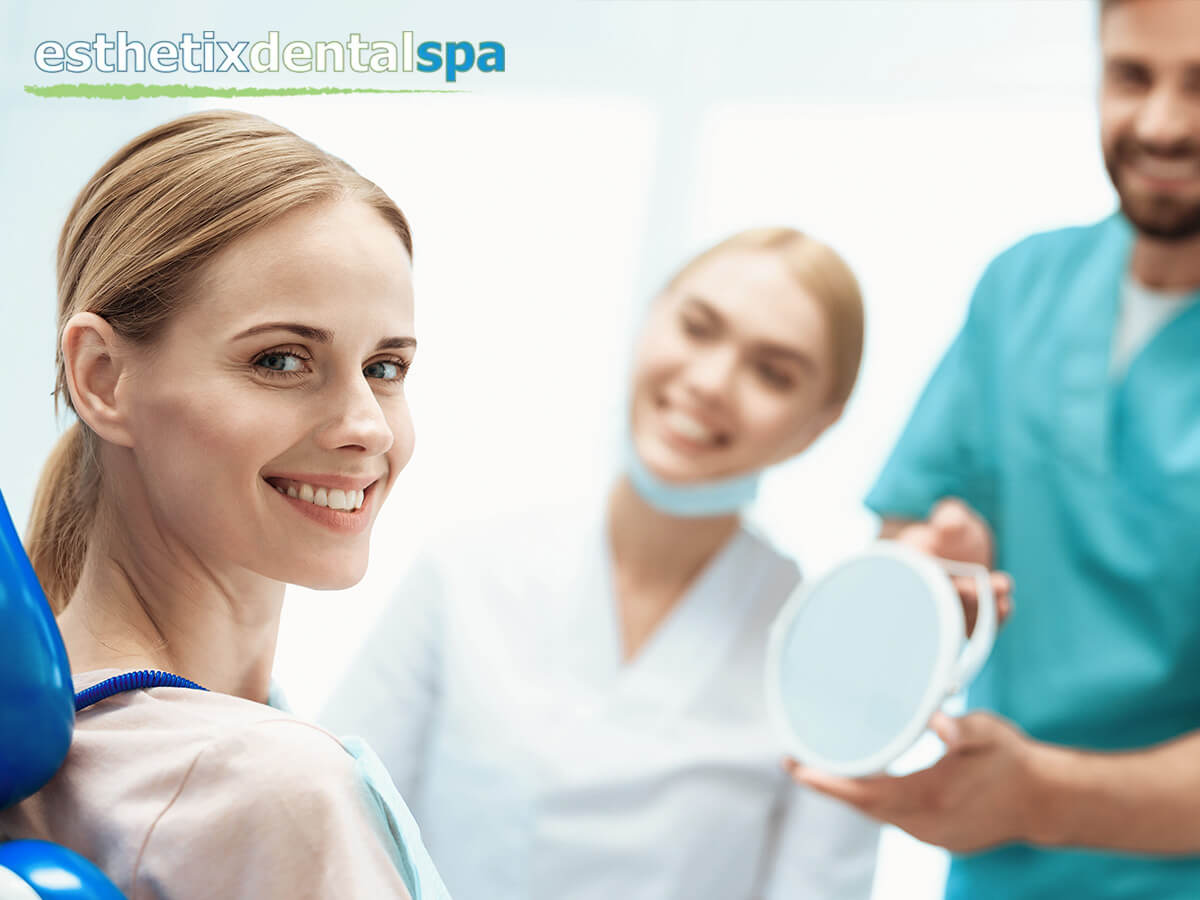 Woman With A Bright Smile After A Cosmetic Dental Treatment In Washington Heights, NY