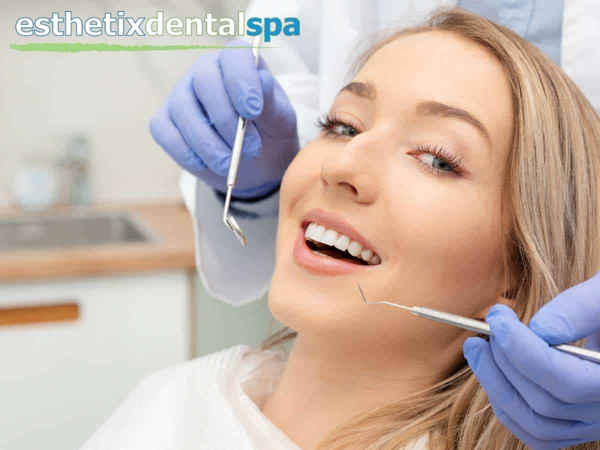A woman having a cosmetic dentistry treatment in Washington Heights, NY.